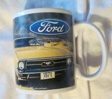 FORD MUSTANG CERAMIC COFFEE MUG 1971 YELLOW Licensed Product EUC