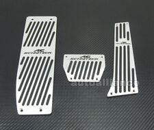 AC ACS Silver Foot Rest AT Pedal Set For BMW E30 E36 E46 E87 E90 E91 E92 E93 M3