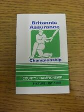 1988 Fixture List: Cricket - Britannic Assurance Championship, Fixture Booklet F