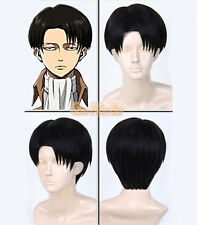 AW5 - Japanese Anime Attack on Titan Levi Rivaille Rival Short Wig Black
