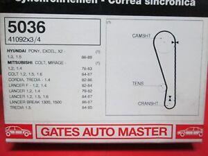 HYUNDAI Excel Pony MITSUBISHI Colt Lancer 1979-95 GATES Cambelt Timing Belt 5036
