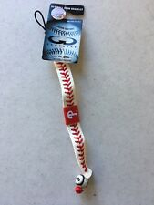 BRAND NEW PHILADELPHIA PHILLIES WHITE COLOR LEATHER BRACELET FREE SHIPPING