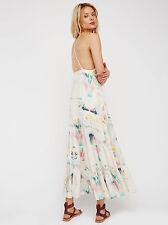 FREE PEOPLE NWT Boho $168 Sound of Spring Floral Ruffle Long Maxi Dress Sz 6 8