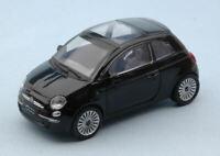 Model Car Scale 1:43 Fiat New 500 Black vehicles road RC Model