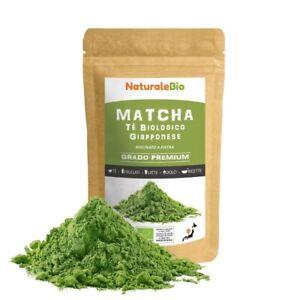 Tè Verde Matcha 100% Biologico in Polvere Grado PREMIUM 100 gr tè freddo tisane