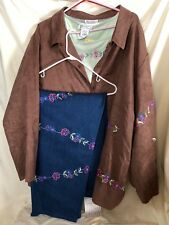 French Flair By Janine Dray SPRING JACKET with MATCHING SHIRT and JEANS SET