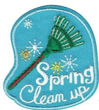 Girl Boy Cub SPRING CLEAN UP Fun Patches Crests Badge SCOUTS GUIDE cleaning