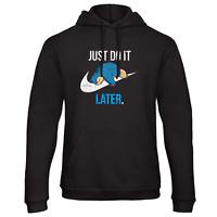Just Do It Later Hoodie Pokemon Top Joke Lazy Nike Swoosh Gift Snorlax Funny