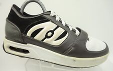 Heelys Brown White Leather Lace Up Single Roller Heels Athletic Shoes Men's 7