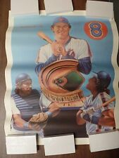 "New York Mets Gary Carter 20x26"" Original Lithograph with COA Sports Impress P12"