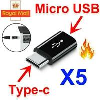 5PCS Micro USB to USB Type-C Converter Data Cable Connector Adapter