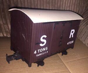ACCUCRAFT 4 Ton CLOSED Wagon SR NARROW Gauge TARE 2.11.3 Runs ON O Gauge TRACK