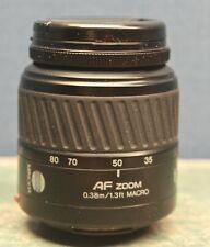 Minolta AF Zoom 35-80mm f4-5.6 Lens Minolta