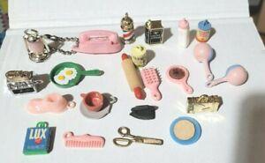 Vintage Cracker Jack Charms Gumball Vending Machine Prizes Lot