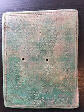 Militärdiplom Römische Replik Aus Bronze In Originalgrösse
