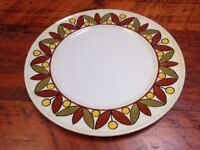 "Mikasa Vintage 70s Epiqure One Parade Large Serving Plate Platter Tray 13"" Japan"