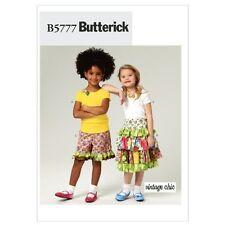 Butterick B5777 Children's Top Skirt and Shorts, Size CDD (2-3-4-5)
