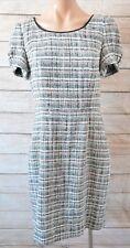 Jason Wu Dress Sz 8 Small 10 Black White Pink Check knit Shift Pencil