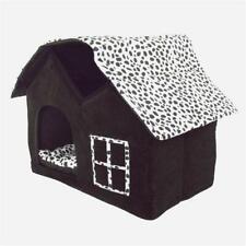 New listing Cat Dog House Super Soft British Style Pet House Foldable Pet Sleeping Warm Bed