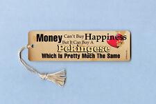 """Money Can't Buy Happiness"" Pekingese - Tassel Bookmark - Mcb029"