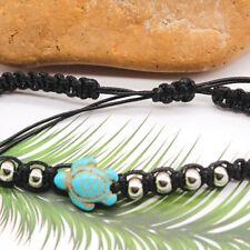 Sea Turtle Charms Anklet Red Cord Charm Braided Bracelet Adjustable Unisex 1pcs
