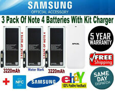 Compatible with Samsung Note4 batteries+KIT CHARGER BN910B SM-N910 N910A 3220mAh