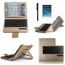 Removable Bluetooth Keyboard with Luxury Leather Case Cover For iPad MINI 3 2 1