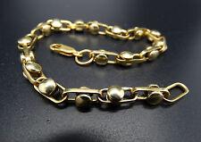 """14k Solid Gold 9 1/2"""" Long Hand Made Rolling Ball Bracelet or Anklet 27.6 gr"""