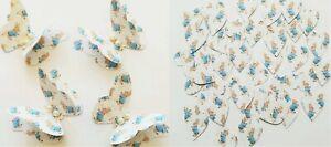 Peter Rabbit Table Confetti -15 Paper Butterflies & 100 Hearts - Baby Shower etc