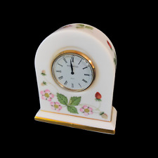 WEDGWOOD WILD STRAWBERRY SMALL DOME MANTLE CLOCK