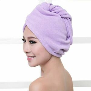 1 Pc Women's Microfibre After Shower Hair Drying Wrap Towel Quick Dry Hair Hat C