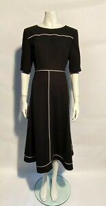 New LK Bennett Amina Print Midi Tea Dress Sz UK 8 10 12 16