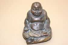 Chinese Pottery Clay Stone Carved Painted Buddha Figure Statue