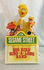 Sesame Street Big Bird Sing A Long Band AM novelty Radio Vintage 1977 muppets