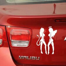 White Trendy Reflective Car Styling Devil Angel Car Stickers Motorcycle Decorati
