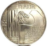 Vittorio Emanuele III (1928) 20 Lire ELMETTO