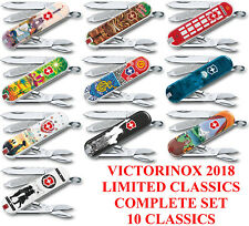Victorinox 2018 Limited Classic Complete Set Of 10 Knives a Must for Collectors