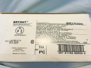 (10) Bryant BRY8200I Hospital Grade Duplex Receptacle 15A 125V Nema 5-15R Ivory