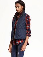 NWT OLD NAVY Women Quilted Barn Vest Jacket Coat Navy Olive Black   XS S M L XL