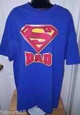 Superman Men's Blue/Yellow/Red Superman Logo Dad T-Shirt Size XL