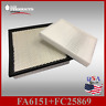 FA6151 FC25869 CA11170 CF10729 ENGINE & CABIN AIR FILTER ~ 2011-14 AVENGER 3.6L