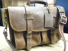 KORCHMAR Vintage Leather Scholar Researcher Briefcase Laptop Bag Mens