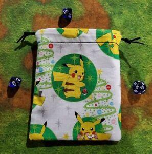 Nintendo Pokémon Pikachu Christmas Tree Dice Bag, Card Bag, Makeup Bag, Gift Bag