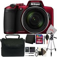 Nikon COOLPIX B600 Digital Camera (Red) + 64GB Accessory Kit