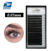 LASHVIEW .03mm D 3D 6D  Volume Individual Eyelash Extensions Ultra Natural Lash