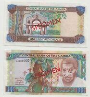 SPECIMEN: Gambia 100 Dalasis ND(2019)  revised Signature Banknote Unc