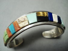 New ListingImportant Vintage Navajo Tommy Jackson Turquoise Sterling Silver Bracelet