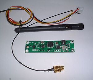 2.4G  wireless dmx512  / transmitter /receiver PCB +antenna+cables UK   Seller