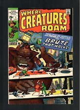 WHERE CREATURES ROAM # 1   ( 1970 )     MARVEL  COMICS  SHARP COPY!