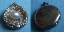 """Bird's nest with pearl """"Built  With Love"""" sterling charm"""